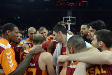 Galatasaray celebrating a win