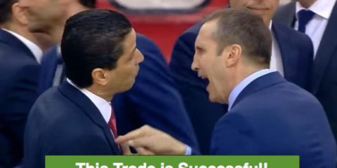 Blatt to Sfairopoulos after the game, probably