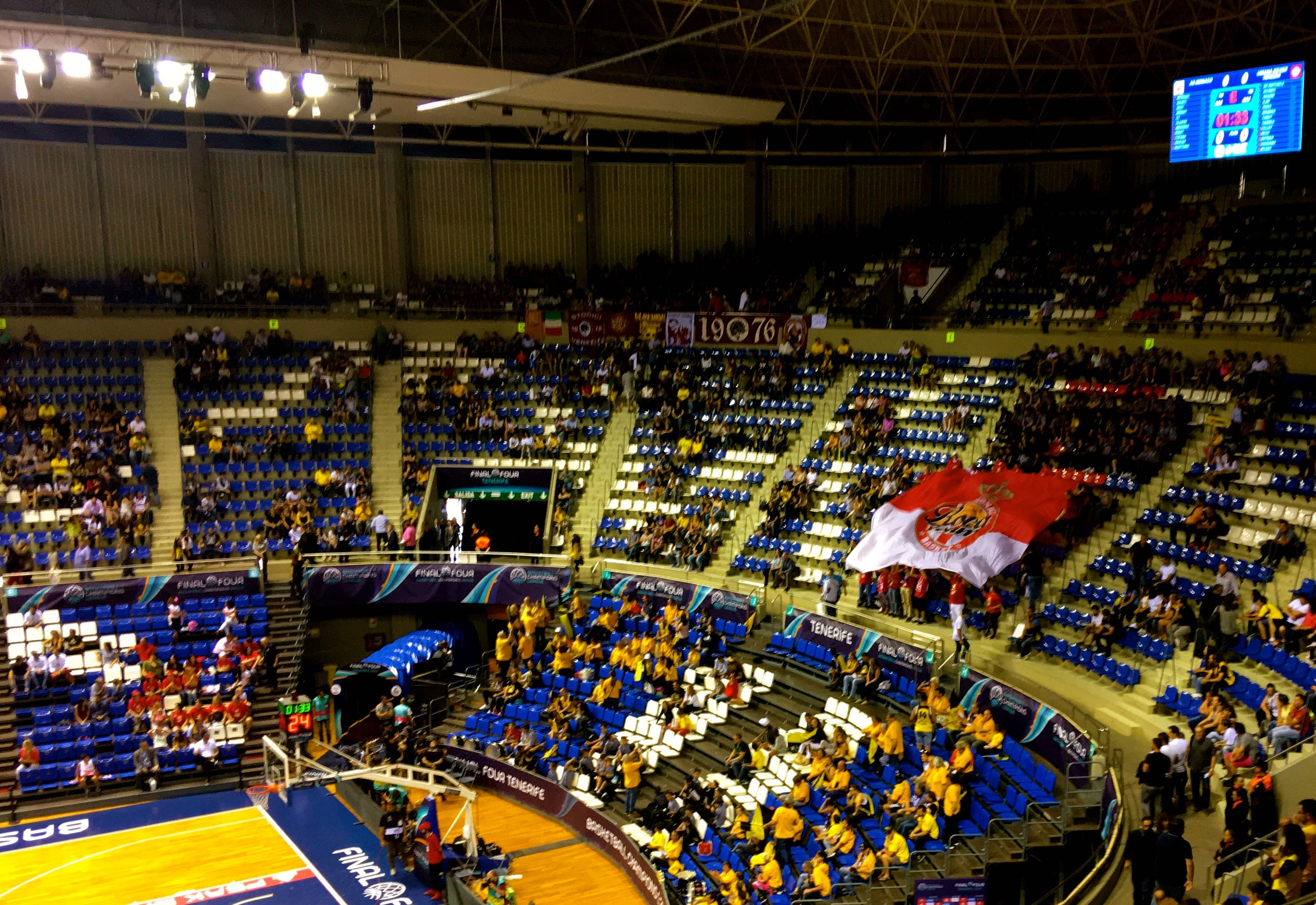 Fans at the Basketball Champions League Final Four in Tenerife