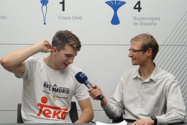 Luka Doncic interviewed